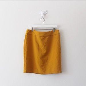 NWT Banana Republic Yellow Pencil Skirt
